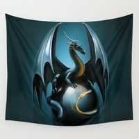 dragon ball Wall Tapestries featuring dragon by Antracit
