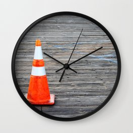 Warning Cone Wall Clock