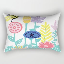 Ditsy Flowers Rectangular Pillow