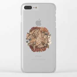 Flowers and Moths Clear iPhone Case