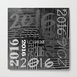 2016 (b) Metal Print
