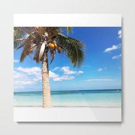 Pardise beach palm Metal Print