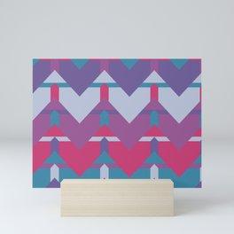 Cool Waves #society6 #violet #pattern Mini Art Print