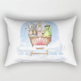 Rollercoaster Zoo Rectangular Pillow