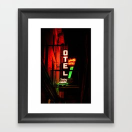 Weekly Rates Framed Art Print