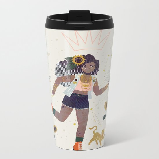 Leo Metal Travel Mug