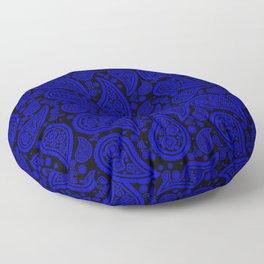 Paisley (Blue & Black Pattern) Floor Pillow