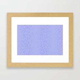 Clouded Blue Shadowed Leopard Print Framed Art Print