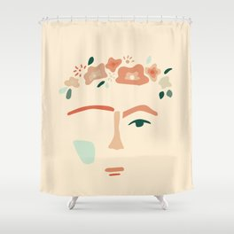 inspired by frida Shower Curtain
