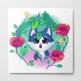 Kitten Garden Metal Print
