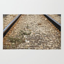 Train Tacks Rug