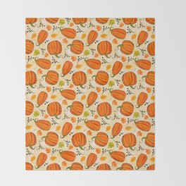 Pumpkins pattern I Throw Blanket