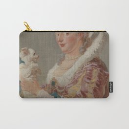 Portrit of a Lady & Her Pup Carry-All Pouch