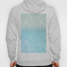 Mermaid Sea Foam Ocean Ombre Glitter Hoody