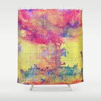 maps Shower Curtains featuring maps by Emily Tumen