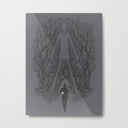 Always Watches - NO EYES Metal Print