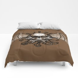 Airships and Tentacles SkullWheel Glyph Comforters
