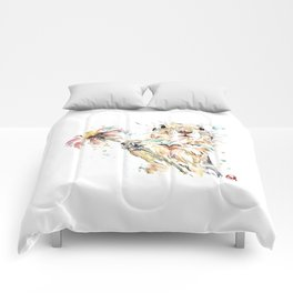 Gopher Colorful Watercolor Painting Comforters