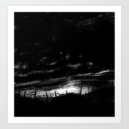 Trenches at dusk Art Print