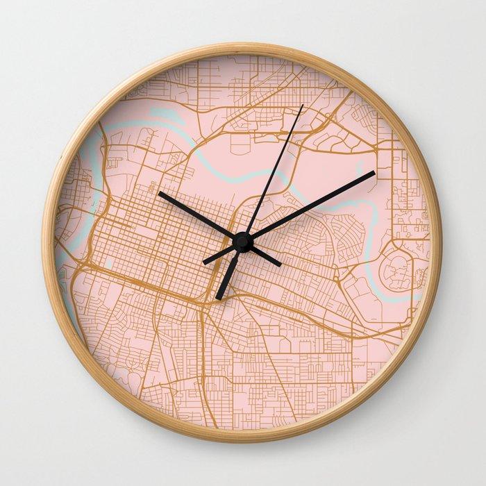 Sacramento map, California Wall Clock