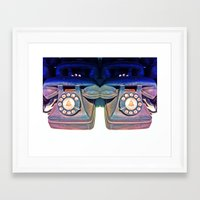 telephone Framed Art Prints featuring Telephone by Parastar Arts