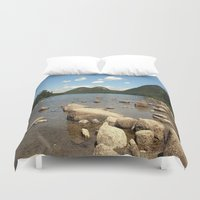 maine Duvet Covers featuring Maine by Raymond Earley