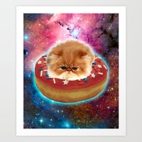 Donut's Cat Art Print