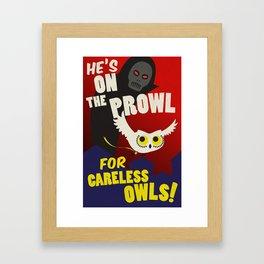 Careless Owls Framed Art Print