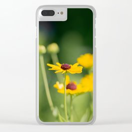 Portrait of a Wildflower in Summer Bloom Clear iPhone Case