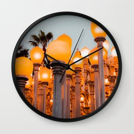 Urban Light at LACMA Los Angeles California USA Wall Clock