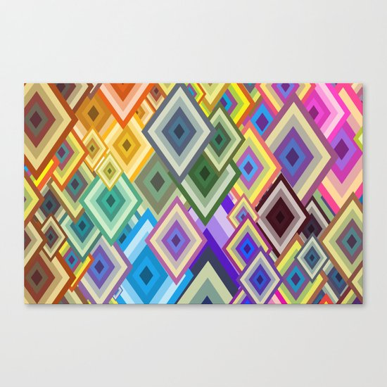 geometric colour Canvas Print