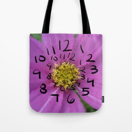 Time lost on Flowers Tote Bag