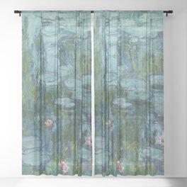 Nympheas, Claude Monet Sheer Curtain