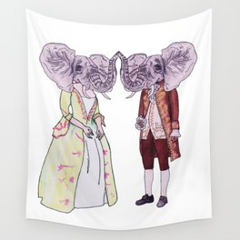 Madame and Monsieur Elephant Wall Tapestry