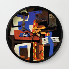 Pablo Picasso Three Musicians Wall Clock