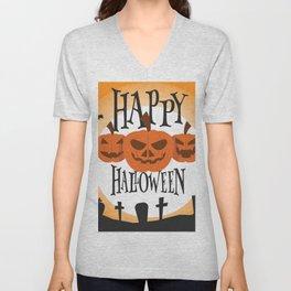Happy Halloween Unisex V-Neck