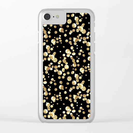 Golden confetti. Brilliant . Clear iPhone Case