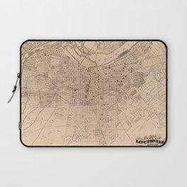 Map Of Louisville 1873 Laptop Sleeve