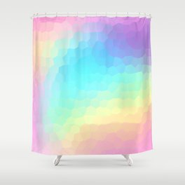 Pastel Rainbow Gradient With Stained Glass Effect Shower Curtain
