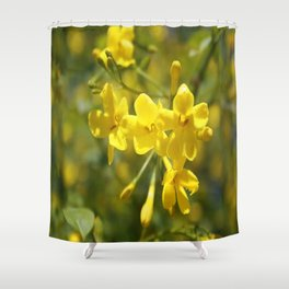 Fragrant Yellow Flowers Of Carolina Jasmine Shower Curtain
