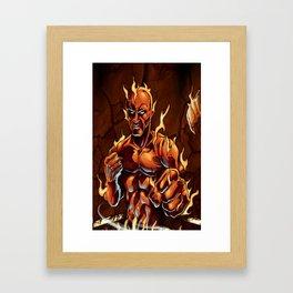 Cluster Fight Framed Art Print