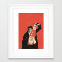 vegetarian Framed Art Prints featuring Vegetarian Vampire by Karolis Butenas