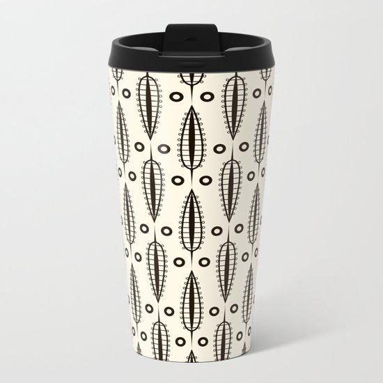 "Art Deco . ""Delicate leaves "". Metal Travel Mug"