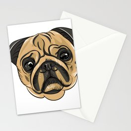 Pug Mans Best Friend Stationery Cards