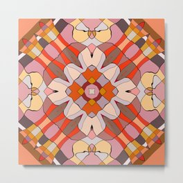 Pomegranate Patchwork Collection 3 Print Metal Print