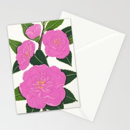 PINK WINTER CAMELLIA I Stationery Cards