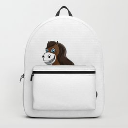 happy horse with flower Girl Daughter Wife Present Backpack
