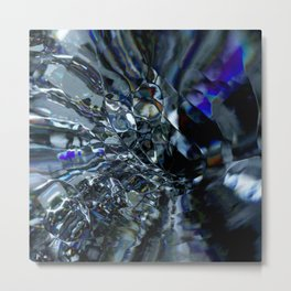 This glass is shattered Metal Print