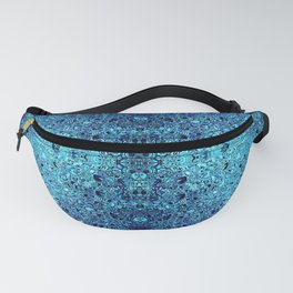 Deep blue glass mosaic Fanny Pack