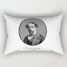 Authors - Charles Dickens Rectangular Pillow